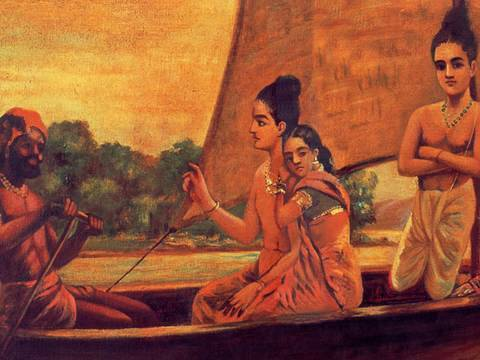 Shree ram with Sita and Lakshaman