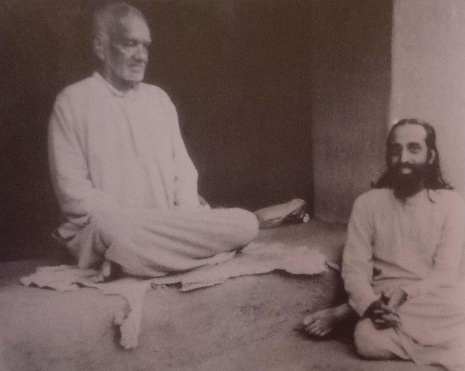 Swami Chinmayananda near master's feet