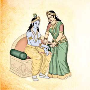 Mahabharat - Krishna & Draupadi